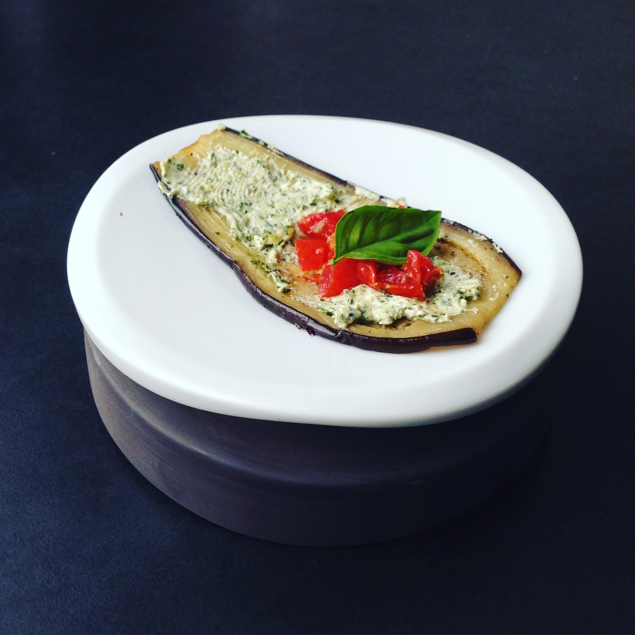 aubergine-hapje