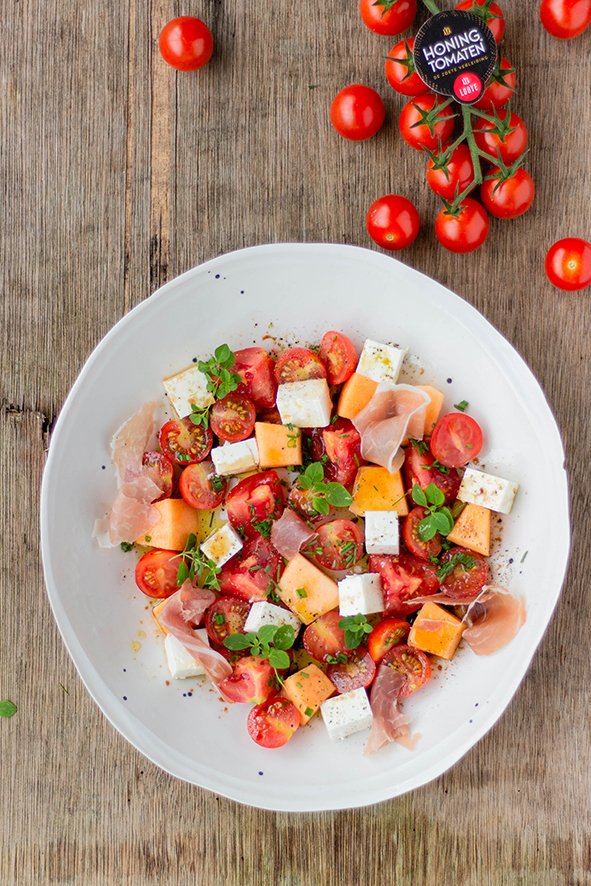 Zomerse salade met Honingtomaten